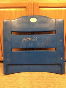 Wpg Blue Bombers- Milt Stegall, Charles Roberts Autographed Seat