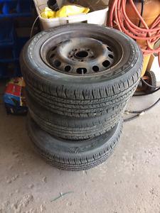 4 X 195 65-R15 tires w/ steel rims