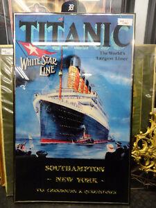 TITANIC WHITE STAR LINE FRAMED POSTER