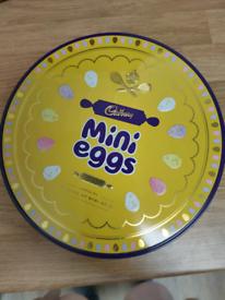 Free tin Mini eggs (empty)