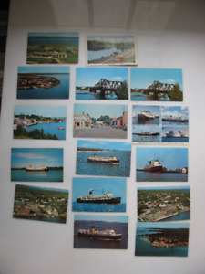 Vintage Post cards  Parry sound , Aylmer ,CN Sleek Turbo Train