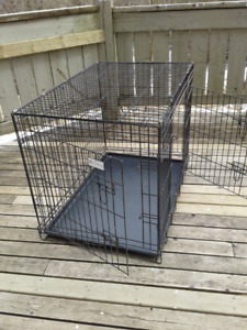 Large Double Door Wire Dog Kennel/Crate