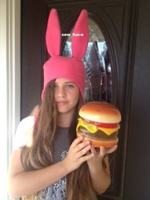 Bob's Burgers Louise Belcher hat Pink Bunny ears hat SIZES: XS, S, M, L, & XL - Louise Bunny Hat