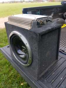 400W amp and subwoofer