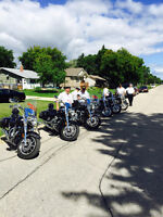 Motorcycle Group riding for sick children in Manitoba