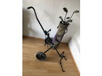 Bag Trolley and Clubs
