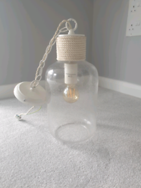 Glass light fitting