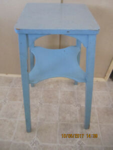 Rustic Blue plant stand or corner table