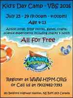Kid's Day Camp (Vacation Bible School - VBS) in Halifax