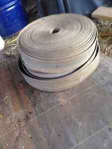shafts pulleys and 3 rolls of belting