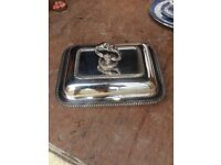 Variety of antique silver items