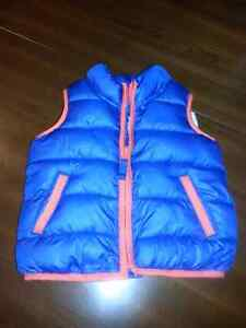 Blue vest lined. Size 12 months. Brand new.