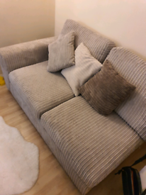 Dfs corner sofa with footstool