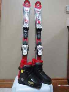 Boy's Volkl Skis and Boots