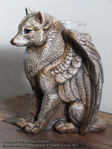 Windstone Editions Spirit Wolf Candle Lamp