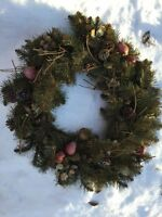Nice Christmas wreath. Only five dollars!