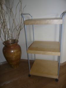 3 Tiered Floor Shelf/Cart or Side Table on Wheels