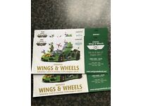 3 Adult Dunsfold Wings & Wheels Tickets