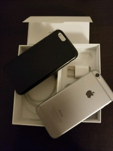 iPhone 6 - 64 GB new battery, perfect condition with case