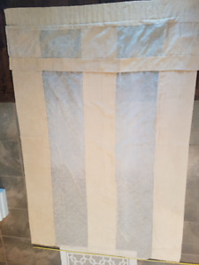 Beige panel curtains