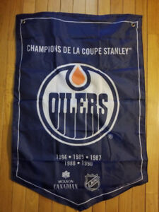Molson NHL Stanley Cup Banners Edmonton Oilers