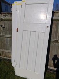 Reclaimed 1930s vintage internal doors.