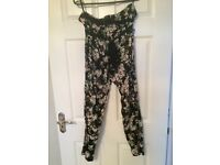 Dorothy Perkins floral cotton trousers