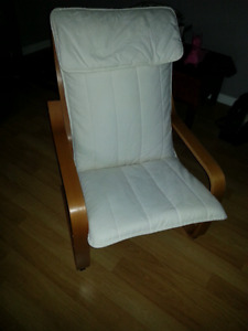 White Poang chair, very good condition, smoke free home, $40