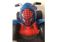 Kids Ride-on Spider-man electric quad bike