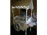 The Sweetest Thing beautiful vintage cart with bespoke catering for weddings and all events.