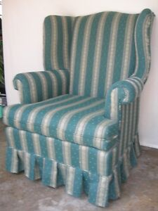 Wing Back Chair-Hunter Green Upholstered Chair Kitchener / Waterloo Kitchener Area image 2