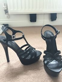 Black heels size 5 from new look