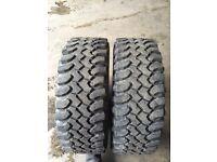 235/65/17 part worn keep tyres off road