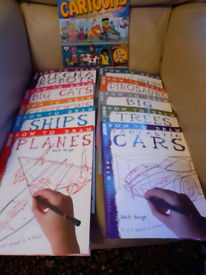 Set of 10 How to Draw books