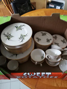 Fine China -  Lily of the valley Made in U.S.A.