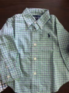 Toddler Boy Clothes- shirts, polo tshirts -size 12 months