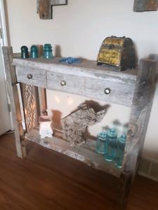 Barn board sofa table