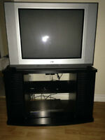 """Zenith 27"""" TV with Stand and Samsung DVD Player"""