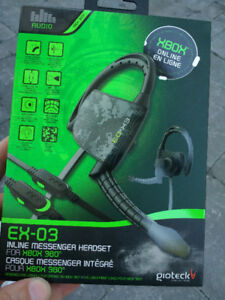 BRAND NEW IN BOX! Gioteck Xbox 360 Inline Messenger Headset