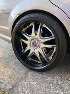 "20"" Rays Volk Racing GT Force Wheels"