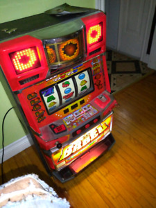 1980 slot machine with coins