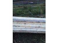 Timber batons. 3 inch by 3 inch 8 foot long