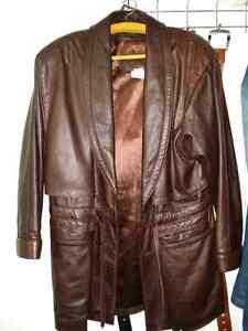Manteau pour femme en cuir
