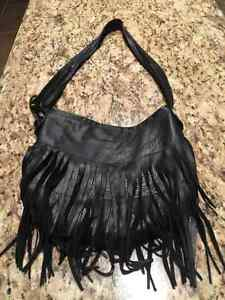 Jennifer Haley leather fringe purse