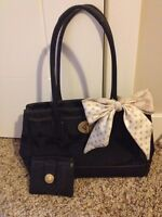 Coach purse set with matching wallet