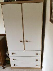 White and pine wardrobe