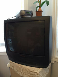Moving sale TV and VHS player built in.