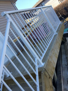 If you require the aluminum welded railings , supply and install