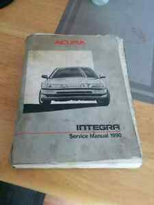 Original 1990 - 93 Acura Integra service / shop manual