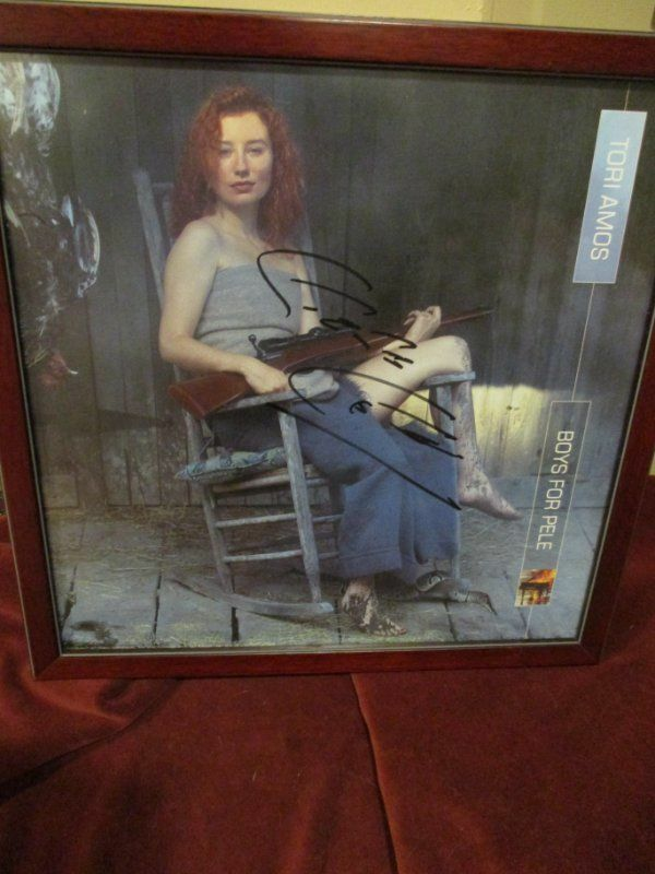 "Tori Amos - Beautifully framed Inscribed Photo - framed 13"" x 13"" - SIGNED x 2"